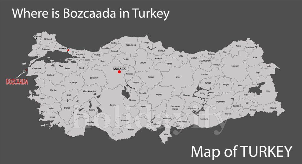 Where is Bozcaada in Turkey
