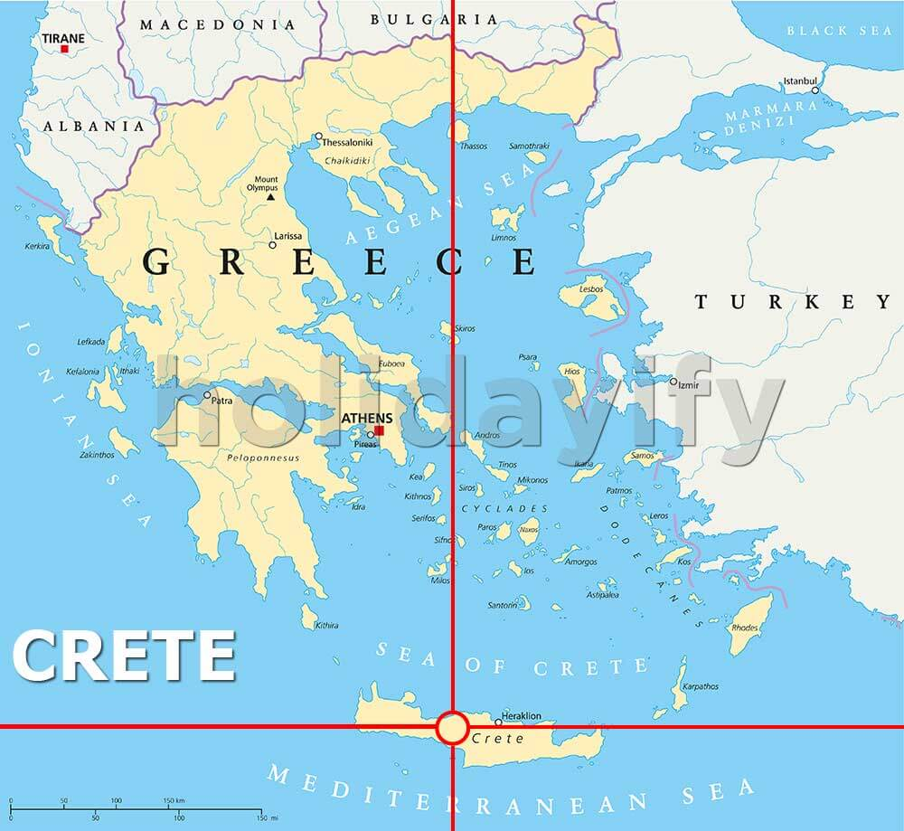 Where is Crete Island, Greece