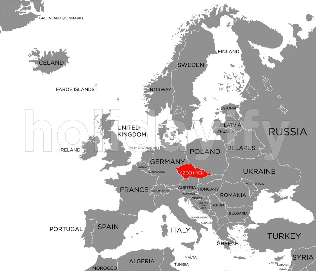 where is prague located in the world