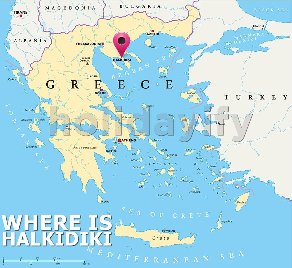 Where is Halkidiki, Greece