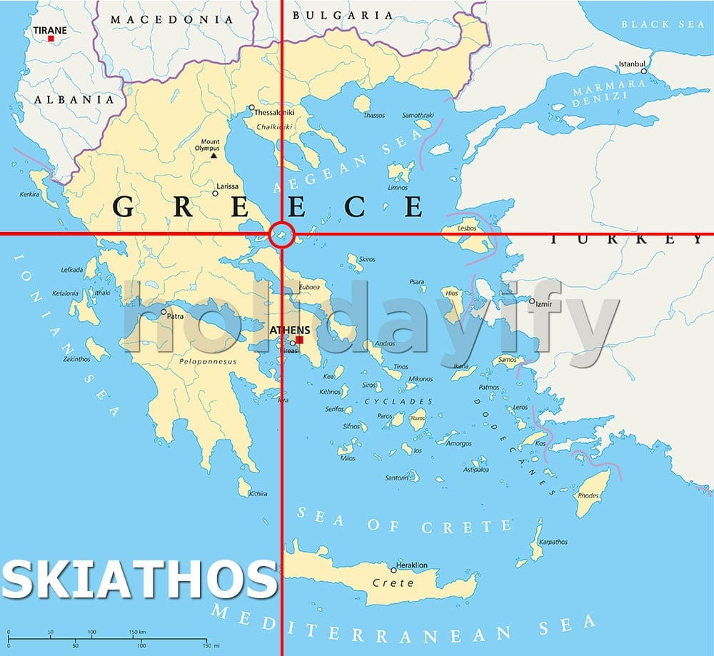 Where is Skiathos island