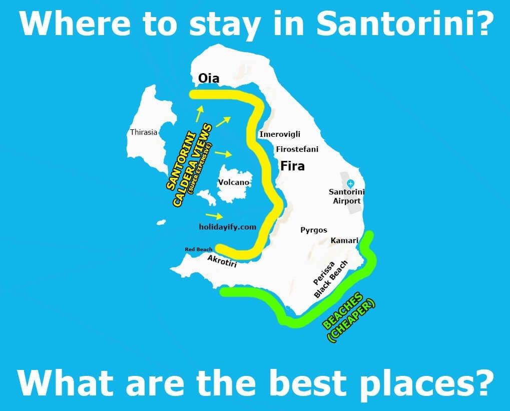 Santorini'de nerede kalınır?